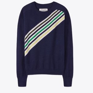 TORY Sport Blue Sweater With Stripes